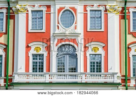 The facade of the Catherine Palace in the park Kadriorg