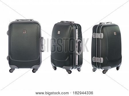 Luggage isolated on white background with clipping path