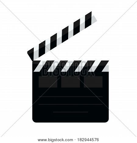 Clapperboard vector illustration isolated background flat solid color style design icon.