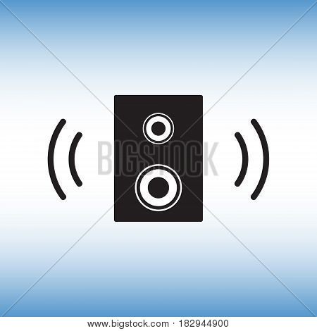 Speaker flat vector icon. Speaker isolated vector sign. Dynamic vector symbol.