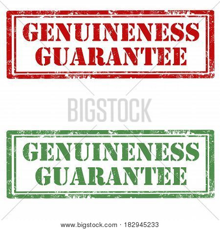 Set of grunge rubber stamps with text Genuineness Guarantee,vector illustration