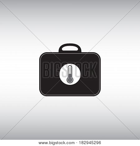 Thermo bag flat vector icon. Temperature stable package isolated vector sign.