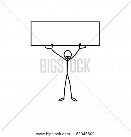 Cartoon icon of sketch stick business figure vector in cute miniature scenes.