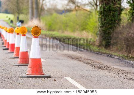 Day View UK Motorway Services Roadworks Cones