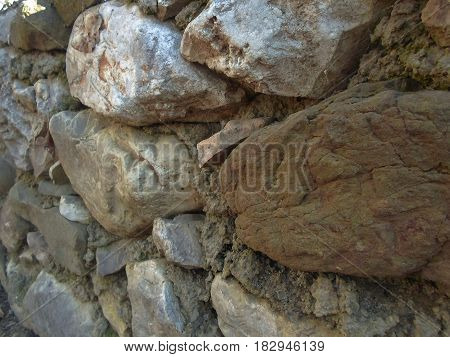 old wall of stones. architecture. background textur