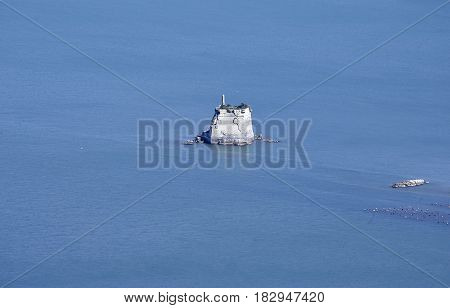 very nice view of torre scola in the gulf of la spezia