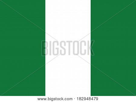 Vector flag of Nigeria, EPS 10, Illustration