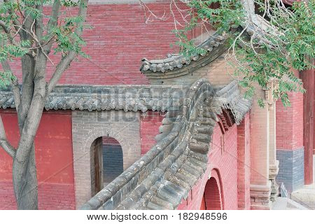 Shanxi, China - Sept 03 2015: Shuanglin Temple(unesco World Heritage Site). A Famous Historic Site I