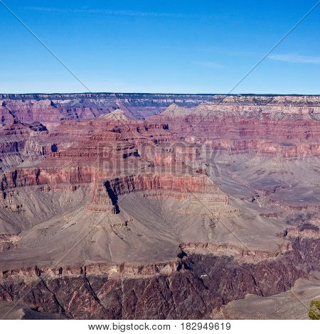 The colorful cliffs of Arizona's Grand Canyon