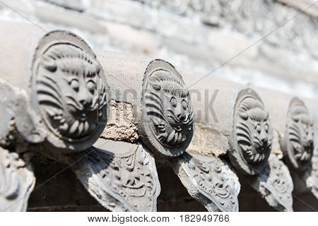Shanxi, China -  Sept 05 2015: Wang Family Courtyard. A Famous Historic Site In Lingshi, Jinzhong, S