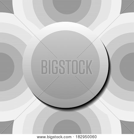 grey circle overlapping and badge backgroundvector Illustration EPS10