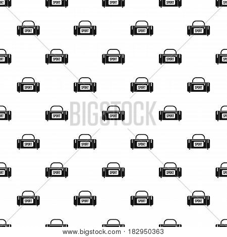 Large sports bag pattern seamless in simple style vector illustration