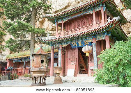 Shanxi, China - Sept 19 2015: Heng Shan. A Famous Historic Site In Hunyuan, Datong, Shanxi, China.