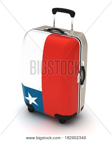 Travel to Chile (isolated with clipping path) 3D Rendering