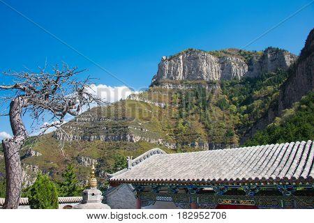 Shanxi, China - Sept 19 2015: Heng Shan. A Famous Landscape In Hunyuan, Datong, Shanxi, China.