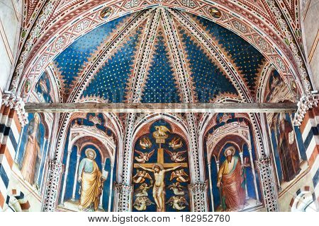 Frescoes In Basilica Di San Zeno In Verona City