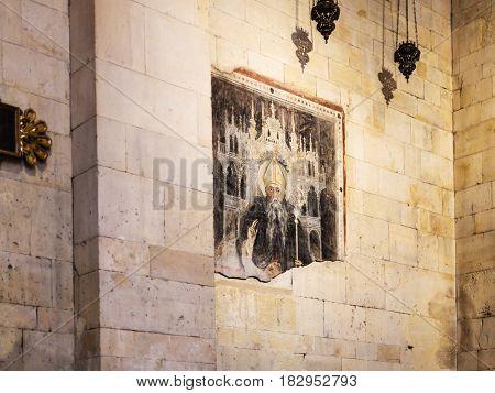 Ancient Fresco In Basilica Di San Zeno In Verona
