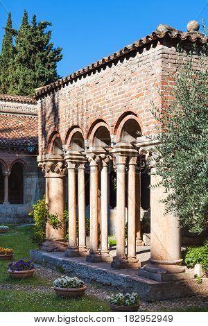 Courtyard Of Basilica Di San Zeno In Verona
