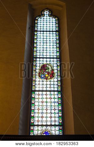 Stained-glass Window In Chiesa Di Sant Anastasia