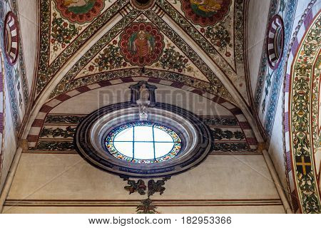 Window And Ceiling In Chiesa Di Sant Anastasia