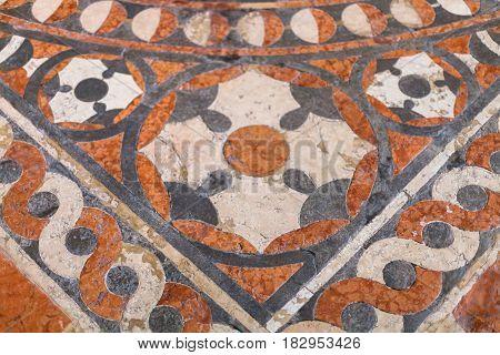 Floor In Chiesa Di Sant Anastasia In Verona City