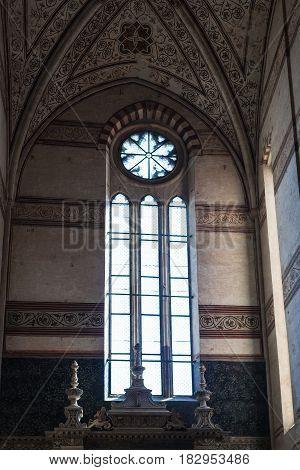 Window In Chiesa Di Sant Anastasia In Verona