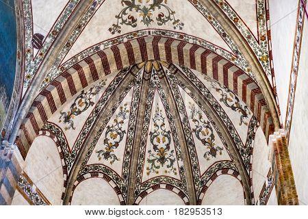 Painted Ceiling In Chiesa Di Sant Anastasia
