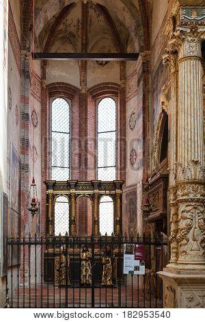 Chapel In Chiesa Di Sant Anastasia In Verona City