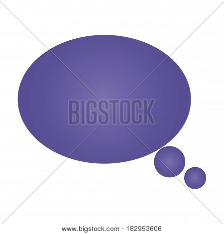 thought ellipse icon over white background. vector illustration