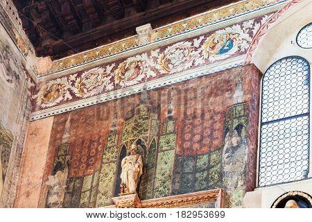 Frescoes In Chiesa Di San Fermo Maggiore