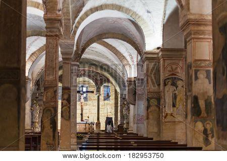 Crucifix In Lower Church Of Chiesa Di San Fermo