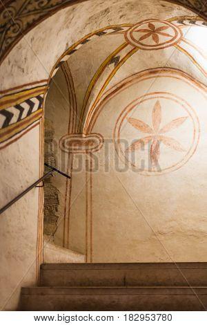 First Benedictine Decoration In Church San Fermo
