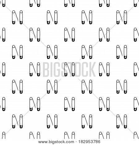 Pins pattern seamless in simple style vector illustration