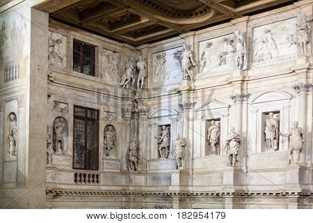Wall Decoration Of Stage Of Teatro Olimpico