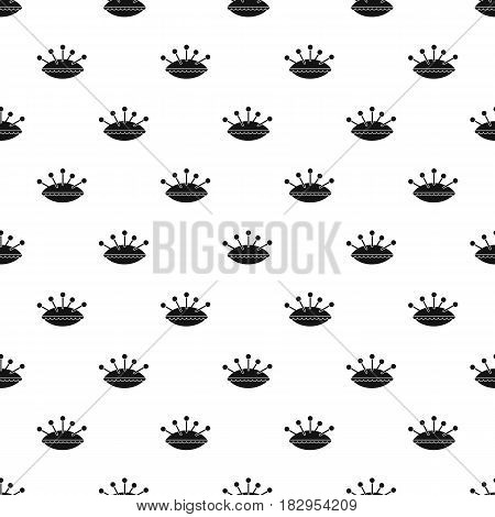 Pillow with needles pattern seamless in simple style vector illustration