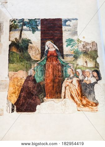 Fresco In Chiesa Di Santa Corona In Vicenza