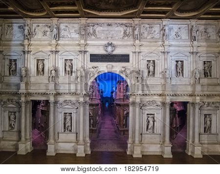 View Of Stage Of Teatro Olimpico In Vicenza