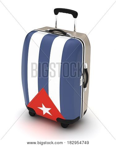 Travel to Cuba (isolated with clipping path) 3D Rendering