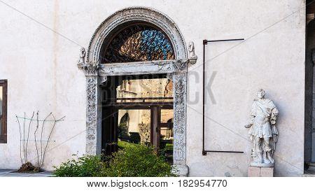 Entrance To Museum Of Castelvecchio Castel