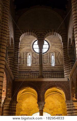 Interior Of Chiesa Di San Lorenzo In Verona City