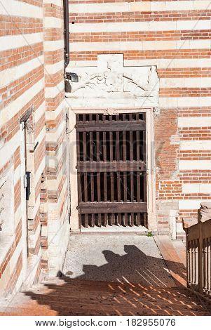 Patio Of Palazzo Della Ragione In Verona City