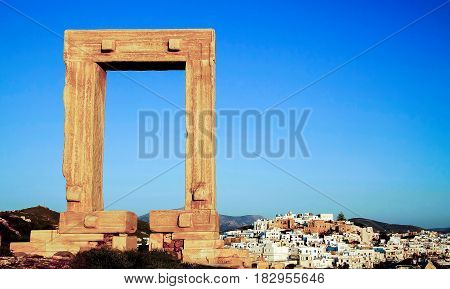 Naxos island, Chora capital city, Cyclades Greece