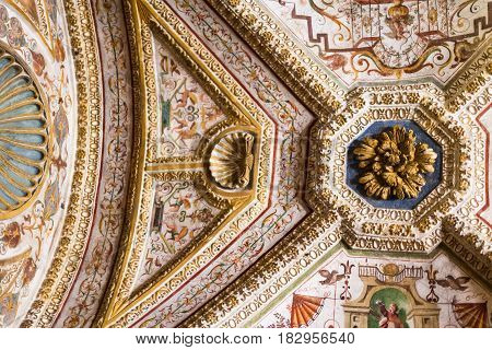 Ceiling Ornament In Ducal Palace Museum In Mantua