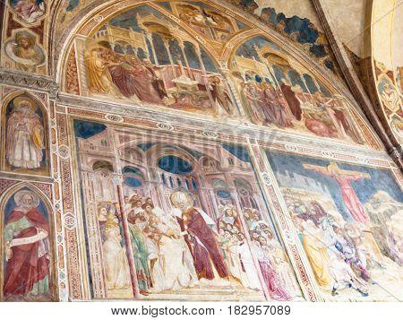 Paintings In Church Of The Eremitani In Padua
