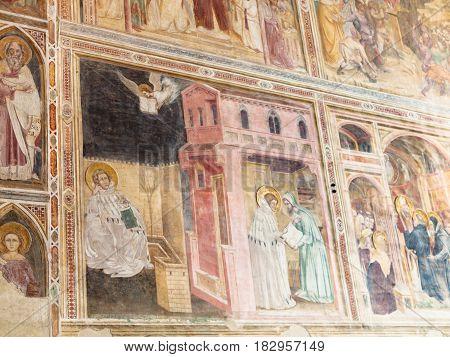 Wall Decor In Church Of The Eremitani In Padua