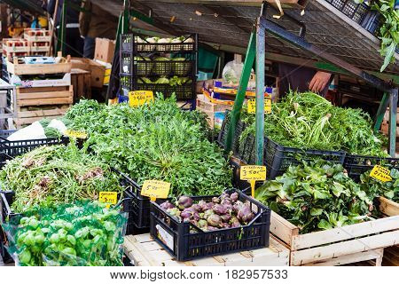 Fresh Local Greenery On Market