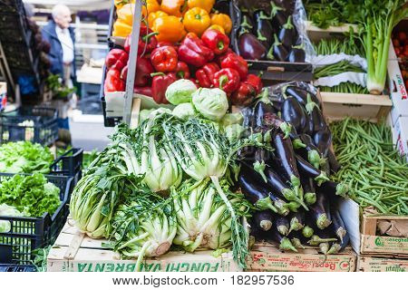 Fresh Seasonal Local Vegetables On Market