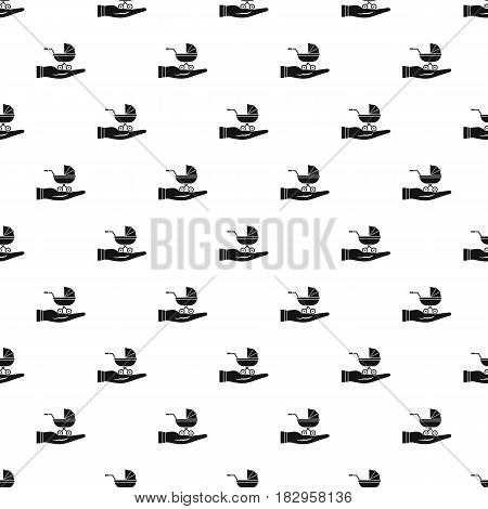 Baby pram protection pattern seamless in simple style vector illustration