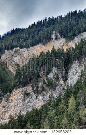 View on Cottian Alps beautiful landscape, Modane, Savoie, France