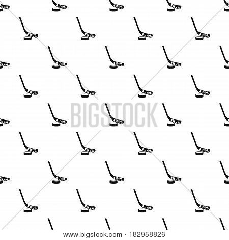 Stick and puck pattern seamless in simple style vector illustration